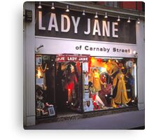 Lady Jane Fashion Boutique, 1960's Canvas Print
