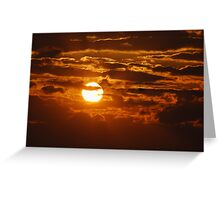 As the Sun Sets in Southeast Missouri Greeting Card