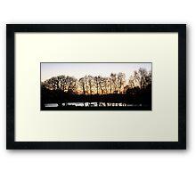 Lakeside Dusk Framed Print