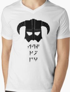 Fus Ro Mens V-Neck T-Shirt