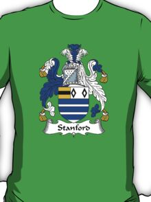 Coat of arms (family crest) for last-name or surname Stanford . Heraldry banner for your name. T-Shirt