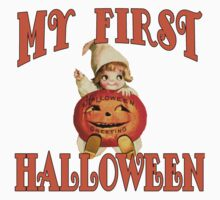 MY FIRST HALLOWEEN with Vintage Art Kids Tee