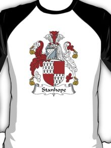 Coat of arms (family crest) for last-name or surname Stanhope . Heraldry banner for your name. T-Shirt