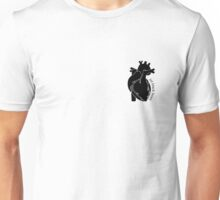 Jet Black Heart 2 Unisex T-Shirt