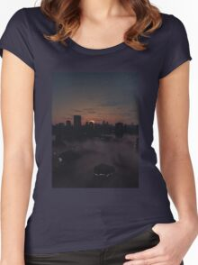 Future City in Misty Sunrise Women's Fitted Scoop T-Shirt