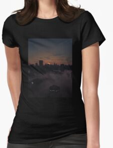 Future City in Misty Sunrise Womens Fitted T-Shirt
