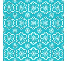 Blue and White Pattern Photographic Print