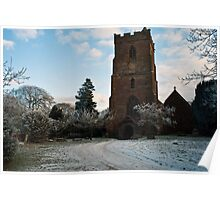 St Edburga church, Leigh, Worcestershire Poster