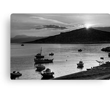 Sunrise over Nissaki - B&W Canvas Print