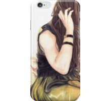 Woman on a Bed iPhone Case/Skin