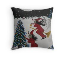 Spooky Merry Christmas Throw Pillow
