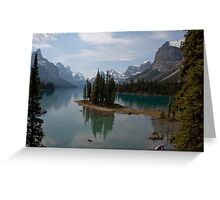 Maligne lake Spirit Island Greeting Card