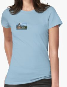 Not all Those who Wander are Lost, Tolkien, LOTR (scenic background) Womens Fitted T-Shirt