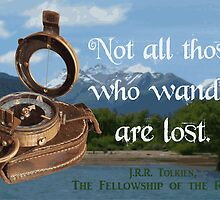 Not all Those who Wander are Lost, Tolkien, LOTR (scenic background) by MHen