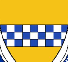 Coat of arms (family crest) for last-name or surname Stewart (Scotland) . Heraldry banner for your name. Sticker