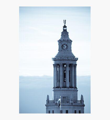 Denver Civic Center Clock Tower Photographic Print