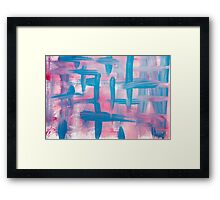 Impulse Abstract Painting Framed Print