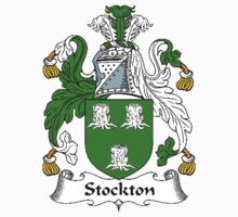 Coat of arms (family crest) for last-name or surname Stockton . Heraldry banner for your name. Kids Clothes