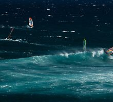 Hookipa Beach Windsurfers by hawkeye978