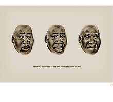 Surprised faces of Guy Goma by Danny Butcher