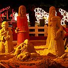Sand Nativity by Maria  Gonzalez