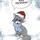 "Snowcat - ""Merry Christmas"" by Jenny -  DESIGN"