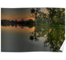 River Meditations , Horseshoe Lagoon Murray River ,Albury NSW - The HDR Experience Poster