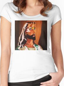 JESUS Women's Fitted Scoop T-Shirt