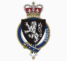 Coat of arms (family crest) for last-name or surname Stokes (England) . Heraldry banner for your name. Kids Clothes