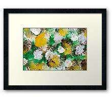 Forest Abstract Painting Framed Print