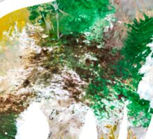 Forest Abstract Painting Sticker