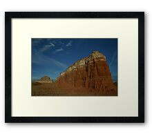 Navajo section of Monument Valley, AZ Framed Print
