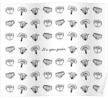 It's Your Garden, white flowers Poster
