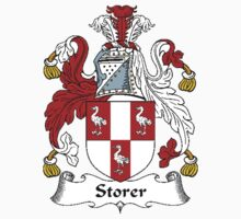 Coat of arms (family crest) for last-name or surname Storer . Heraldry banner for your name. Kids Clothes