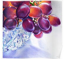 Grapes in Crystal Bowl- 2 Poster