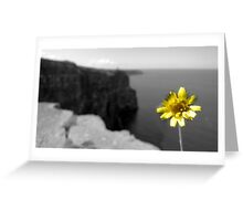 Cliffs of Moher Flower Greeting Card