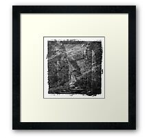 The Atlas of Dreams - Plate 16 (b&w) Framed Print