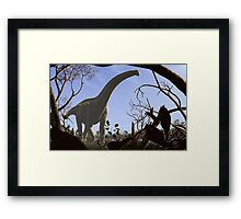 Futalognkosaurus dukei, a Cretaceous sauropod dinosaur Framed Print