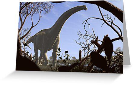 Futalognkosaurus dukei, a Cretaceous sauropod dinosaur by juliusc
