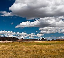 Clouds Over the Badlands by Kathy Weaver