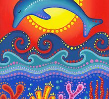 vibrant dolphin medicine by Elspeth McLean