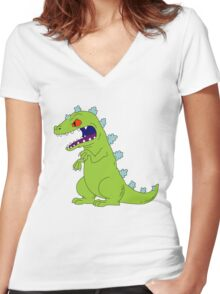 Reptar Women's Fitted V-Neck T-Shirt
