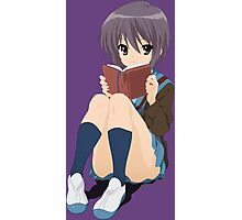 The melancholy of haruhi suzumiya yuki nagato anime manga shirt Photographic Print