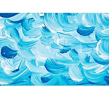 Aqua Abstract Painting Photographic Print