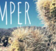 Happy Camper Cactus Nature Boho Flower Desert Typography Print Sticker