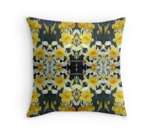 Daffodils - In the Mirror Throw Pillow