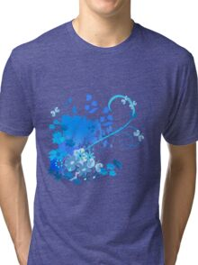 Blue spring Tri-blend T-Shirt