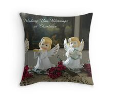 Christmas Angels Quartet Throw Pillow