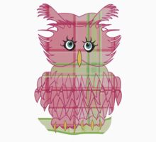 Larravide Owl Pinky Kids Clothes