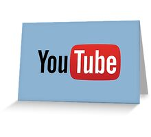 Youtube Logo (Low-priced) Greeting Card
